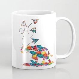 Baby elephant with paper planes Coffee Mug