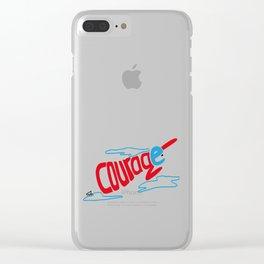 Courage superhero - inspiring Clear iPhone Case