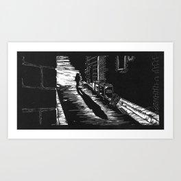 Down a Hidden Alley Art Print