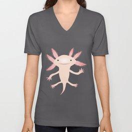 Axolotl vector illustration Unisex V-Neck