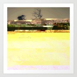 Trees between the lines Art Print