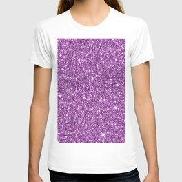 Sparkling glitter print D T-shirt