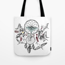 Bohemian print design with hand drawn dreamcatchers Tote Bag
