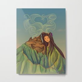 Volcano Love Metal Print