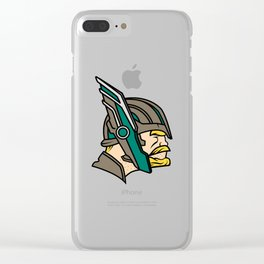 Thor Ragnarok Sports Logo Clear iPhone Case