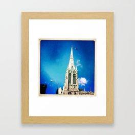 Blue Broadway Framed Art Print