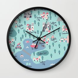 Kanto Map Wall Clock