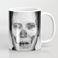christopher walken Mugs featuring CHRISTOPHER WALKEN SKULL by Maioriz Home
