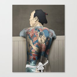 Tattoo Yakuza Canvas Print