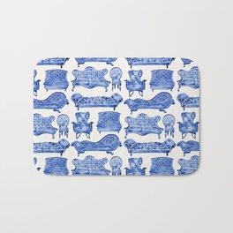 Victorian Lounge – Navy Palette Bath Mat