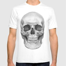 Skull G127 MEDIUM White Mens Fitted Tee