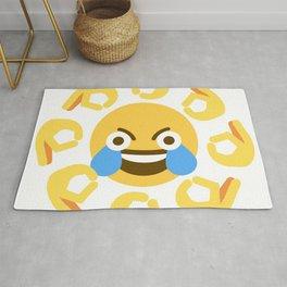 Open Eye Crying Laughing Emoji Rug