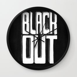 Black Out Wall Clock