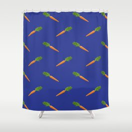 a basket full of carrots Shower Curtain