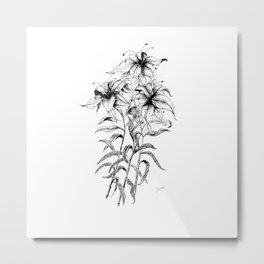 The three flowers Metal Print