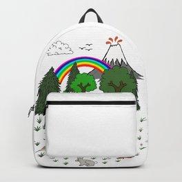 Cartoon Camping Scene Backpack