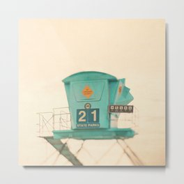 Lifeguard station. No. 21 Metal Print