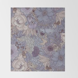 the wild side - icy tones Throw Blanket