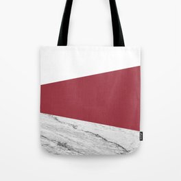 Marble Jester Red Geometry Tote Bag
