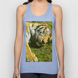 Sunbathing Tiger Unisex Tank Top