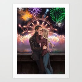 New Years Kiss Art Print