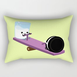 Milk and Cookie - Seesaw Rectangular Pillow
