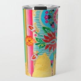 Gold Dipped Boho Serape Dream Travel Mug