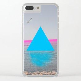 Geometric shadows Clear iPhone Case