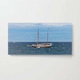 Sailboat and the Gannet Metal Print