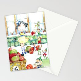 Snow White and the cooperative. Stationery Cards