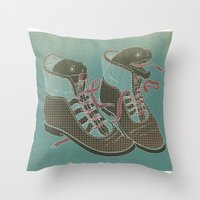 heels Throw Pillows featuring Moray Heels by Jacqueline Pytyck