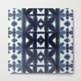 Blue Pima Shibori Metal Print