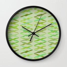 crisscrossed leaves Wall Clock