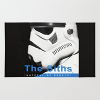 smiths Area & Throw Rugs featuring The Siths-Hateful of Rebels by Ant Atomic