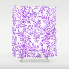 Radiant Orchid Tea Reversed Shower Curtain