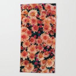 Fall floral Beach Towel