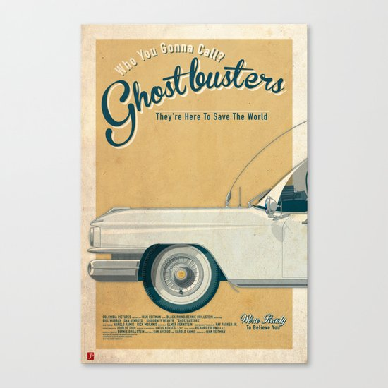 Ghostbusters Ecto-1 Triptych part I of III Canvas Print