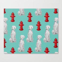 HYDRANTS AND WEIMARANERS Canvas Print