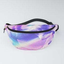 Kitty Cat Riding On Flying Unicorn With Rainbow Fanny Pack