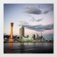 kobe Canvas Prints featuring Kobe, Japan by Kia Noelle