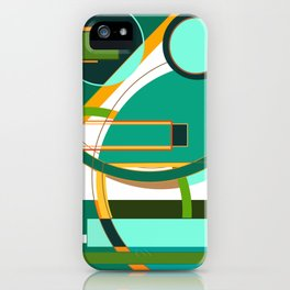 D is for Deco: Abstract Art Deco Font Typography iPhone Case