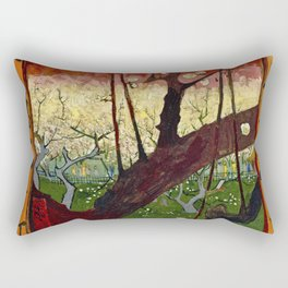 Vincent Van Gogh - Flowering Plum Orchard After Hiroshige Rectangular Pillow