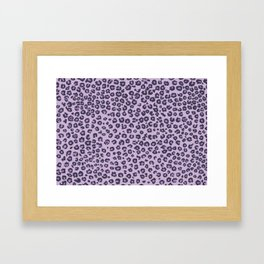 Pink cheetah Framed Art Print