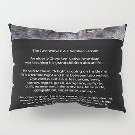 TWO WOLVES CHEROKEE  Native American Tale Pillow Sham