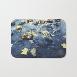 Autumn Leaves, Color Film Photo, Analog Bath Mat