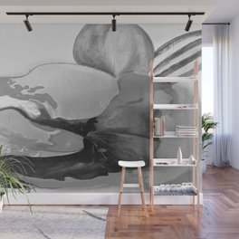Burn The Flowers for Fuel Grey Wall Mural