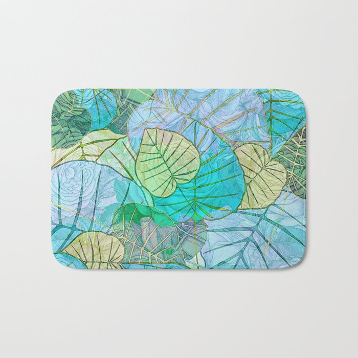 Leaves in Rosy Background 2 Bath Mat