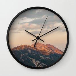 Mountain, Italy, 2017 Wall Clock