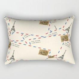 Paris Envelopes Rectangular Pillow