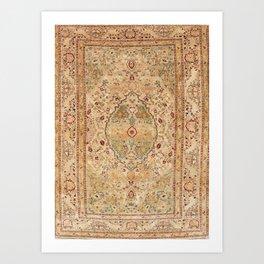 Silk Tabriz Azerbaijan Northwest Persian Rug Print Art Print